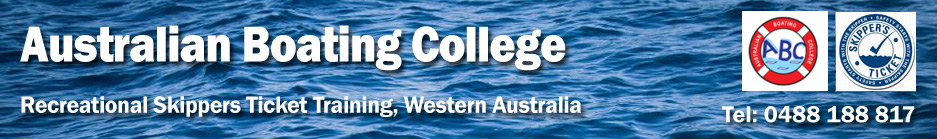 Australian Boating College WA – Skippers Ticket Training header image